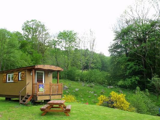 Roulotte dans les Vosges